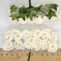 Цветы из фоамирана белые (12 шт) Х2