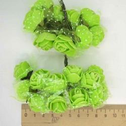 Цветы из фоамирана зеленый (12 шт) Х7