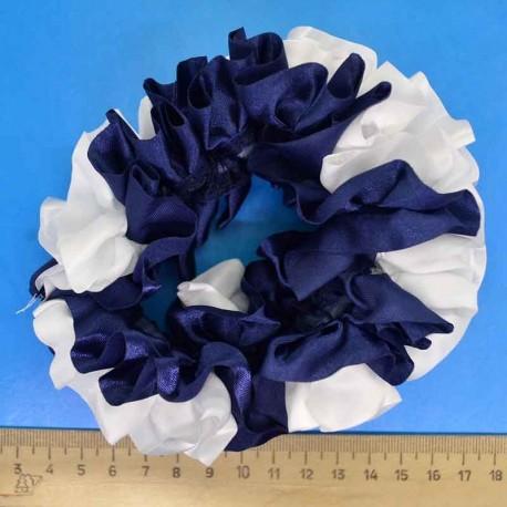 Резинка шелк сине-белая (1 уп) Р76