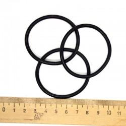 Резинка силиконовая черная 10шт Р81