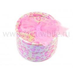 Футляр для колец сердца розовая