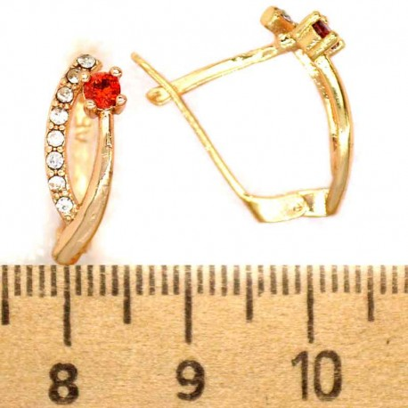 Серьги аис кристалл красный М316