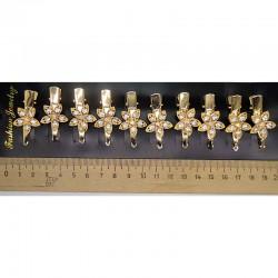Уточка цветок золотистая (2 шт) М129