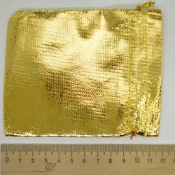 Мешок подарочный золотистый (5 шт) 11х9см М2
