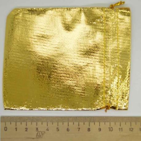Мешок подарочный золотистый 11х9см М2