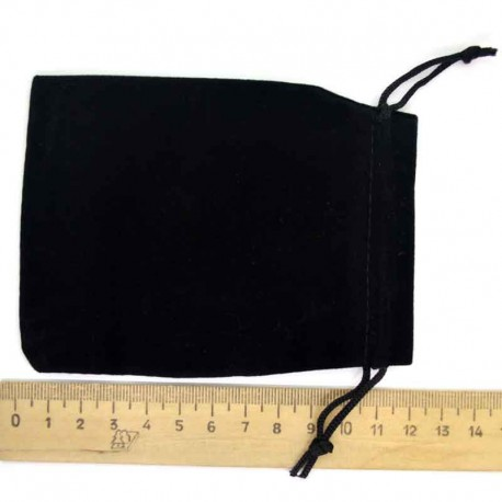 Мешок подарочный бархат черный 12х9см (3 шт) М6