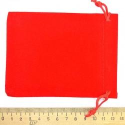 Мешок бархат красный 12х9см (3 шт) М7