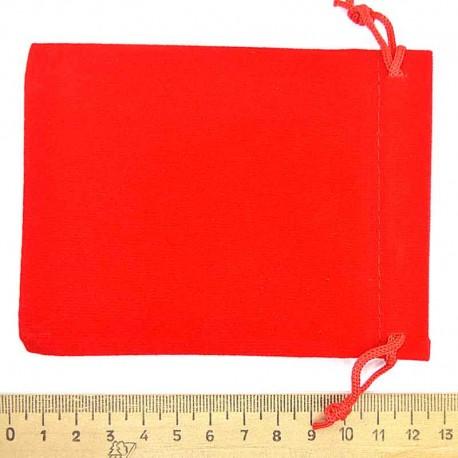 Мешок подарочный бархат красный 12х9см (3 шт) М7
