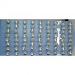 Серьги жемчужина белая 1см (9 пар) М17