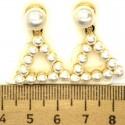 Серьги кулон треугольный в золоте М23