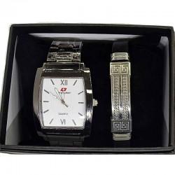 Часы мужские с браслетом в подарочной упаковке М21