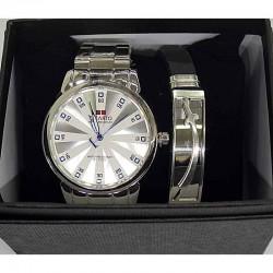 Часы мужские с браслетом в подарочной упаковке М22