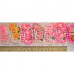 Набор браслет и клипсы ромашка микс (1 шт) М15