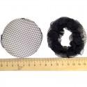 Сетка рюши маленькая черная (2 шт) М143