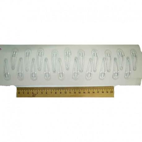 Зажим белый силиконовый (10шт) М138