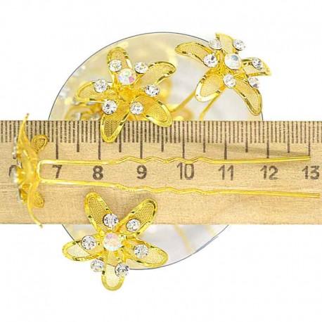 Шпилька сеточка золотистая (12шт) М24