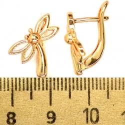 Серьги стрекозы М331