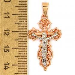 Кулон мед металл крестик бол М146