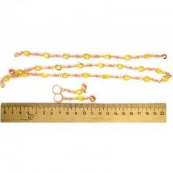 Набор три предмета хрусталь желтый М48