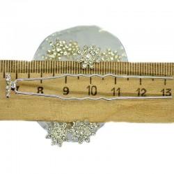 Шпилька цветок стразы хамелеон (20 шт) М28