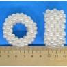 Резинка жемчужная белая (1 шт) М106