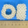 Резинка жемчужная айвори (1 шт) М107