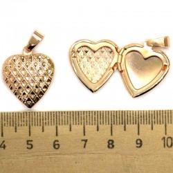 Кулон мед металл сердце М149