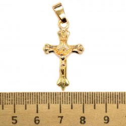 Кулон мед металл крестик М150