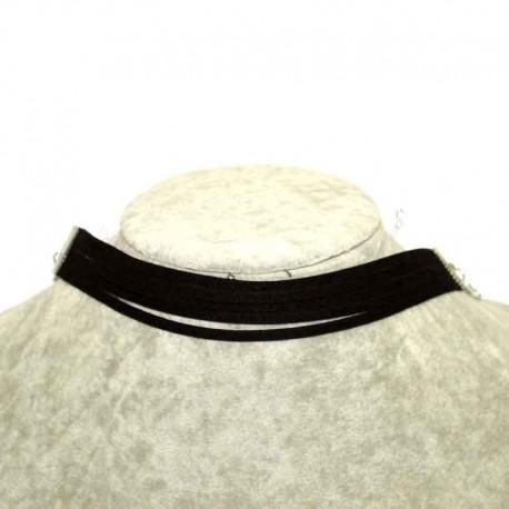 Колье чокер текстиль М207