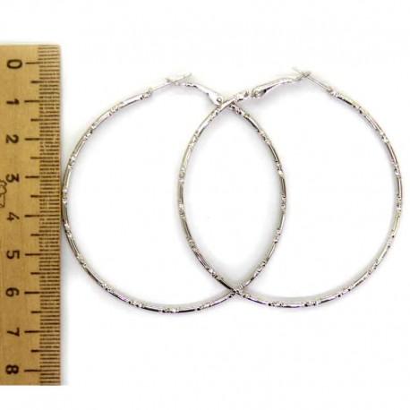 Серьги кольцо рифленое 6 см М191