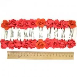 Невидимка роза красная 2шт М208