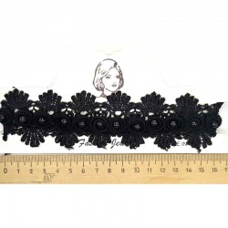 Колье чокер розы черные М208