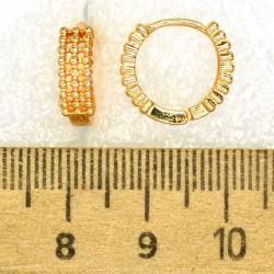 Серьги кольцо шарики М421