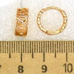 Серьги кольцо колечки маленькие М423