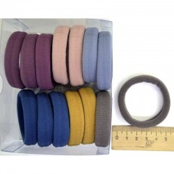 Резинка для волос 5х1,4см тмн (14 шт) М128