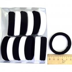 Резинка для волос 5х1,4см чер бел (14 шт) М129