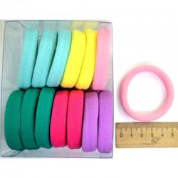 Резинка для волос 5х1,4см чер пастель (14 шт) М130