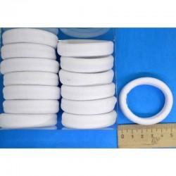 Резинка для волос 5х1,4см бел (14 шт) М131