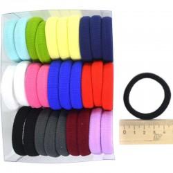 Резинка для волос 4,5см микс цвет 1 уп М140