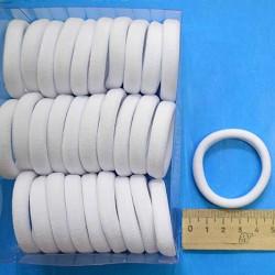 Резинка для волос 4,5см бел 1 уп М142