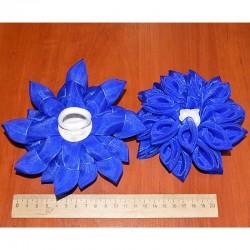 Бант средний синий 2 шт М1