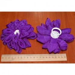 Бант средний фиолетовый 2 шт М8