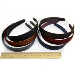 Ободок каучук средний 2,5 см микс (1 шт) М96