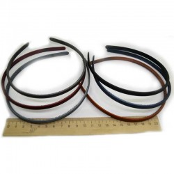 Ободок каучук узкий 0,8 см микс (1 шт) М97