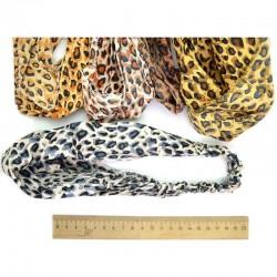 Бандана на резинке леопард микс (1 шт) М111
