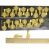 Уточка золотистая цветок сетка микс пара (12 шт) М312