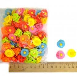 Крабик 1,5 см разноцветная ромашка 3д М199