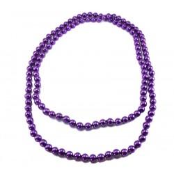 Бусы классика жемчуг фиолетовый
