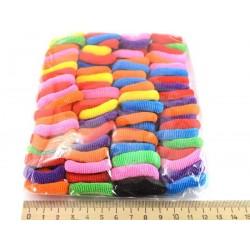 Резинка для волос цветная 80шт в уп