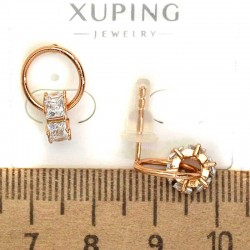 Серьги гвоздики циркон белый золоте М23